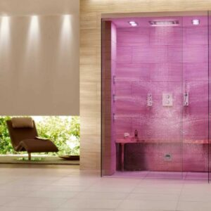 doccia con striscia led rgb