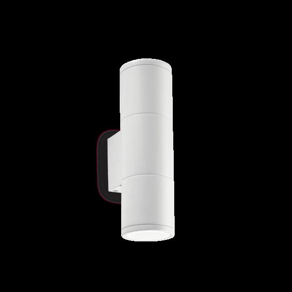 applique esterno Gun ideal lux small bianca
